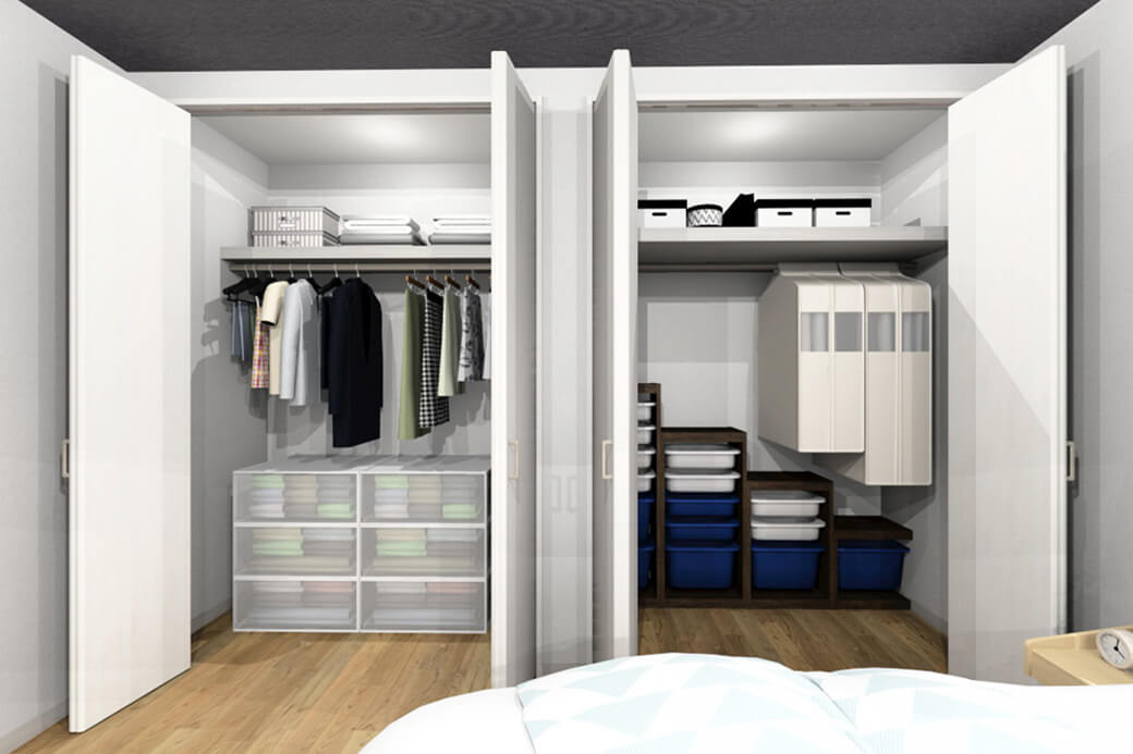 フォトギャラリー 施工例 主寝室のクローゼット